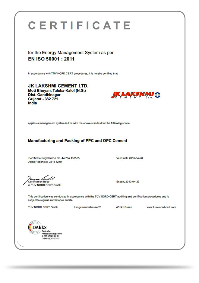 ISO 50001:2011—Energy Management system