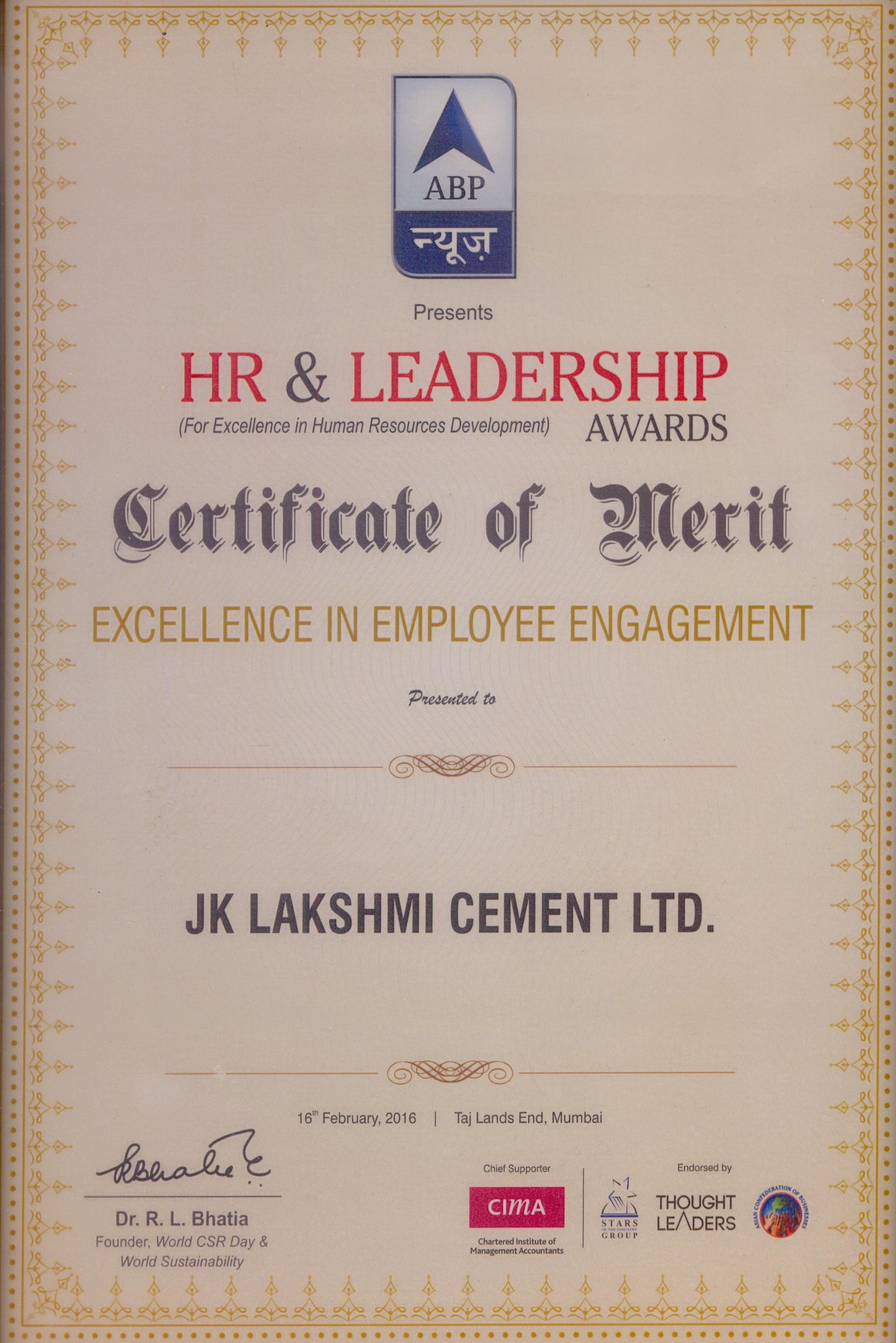 ABP News HR & Leadership Award 2016