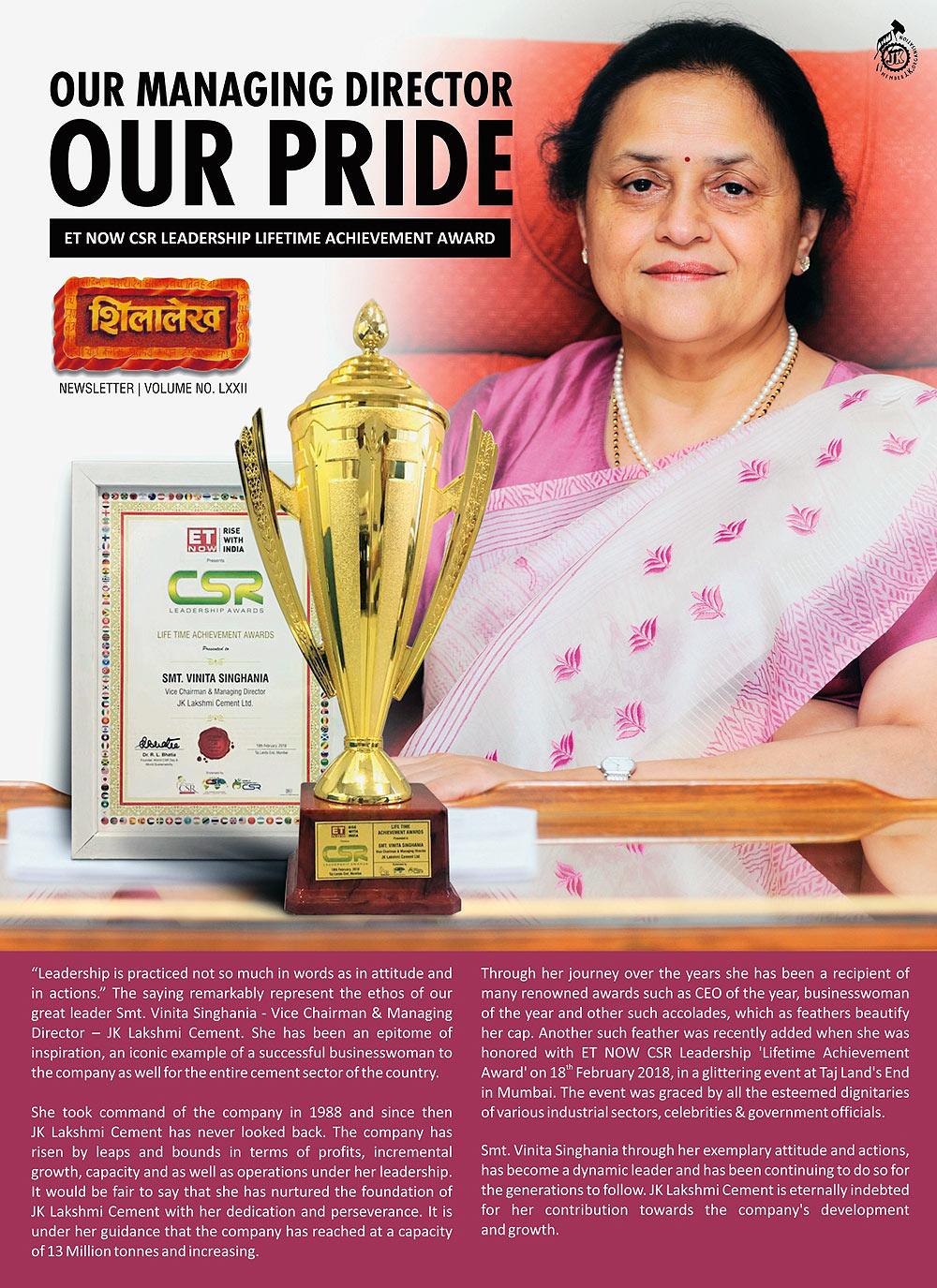 ET NOW CSR Leadership Lifetime Achievement Award