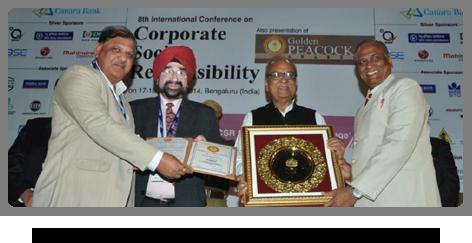 2013 - CSR Golden Peacock Award