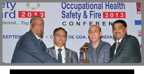 2013 - Greentech Safety Gold Award
