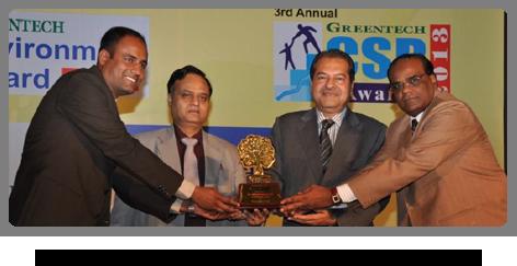2013 - National Award for Environment Greentech